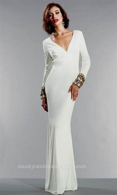 Awesome long white dresses with sleeves Check more at http://topclotheshop.com/review/long-white-dresses-with-sleeves/