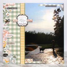 Scrapbook Layout featuring Simple Stories Spring Farmhouse paper and sticker collection. Travel Scrapbook, Scrapbook Albums, Scrapbook Cards, Scrapbooking, Scrapbook Layouts, Big Huge, Simple Stories, Creative Memories, Large Photos