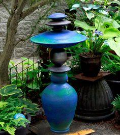 Ceramic totem by Victoria Shaw. Photo: Sharon Andrews