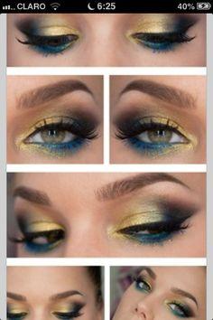 makeup blue