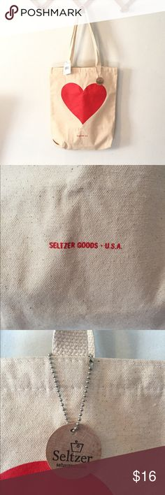 "Nordstrom Seltzer canvas tote NWT Brand new with tags, super cute canvas tote bag from Nordstrom. Would make a nice gift! Approximately 16 1/2"" long, 13"" wide, 11"" strap drop seltzer Bags Totes"