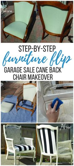 DIY Tutorial Cane Back Chair Makeover In 10 Steps
