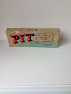 "Vintage Board Game, 1940's Parker Brothers ""Pit"" on Etsy, $11.00"