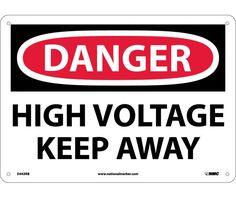 Danger, HIGH VOLTAGE KEEP AWAY, 10X14, Rigid Plastic