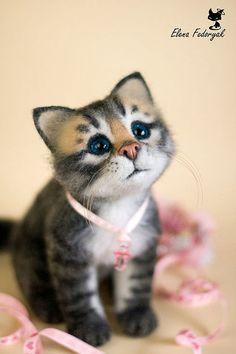 felted kitten 2 How adorable