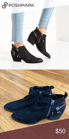 Dolce Vita Saylor Leather Zip Ankle Booties Dolce Vita Saylor Leather Zip Ankle Booties Worn once, LIKE NEW Dolce Vita Shoes Ankle Boots & Booties