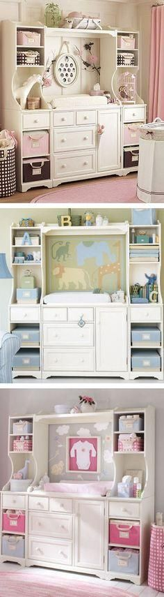 Baby Changing Table Inspiration Same Changing Table, 3 different ways!