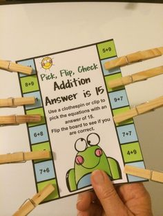 FREE Addition and Subtraction Pick, Flip and Check Cards. Math Addition, Addition And Subtraction, Subtraction Games, Addition Facts, Math Stations, Math Centers, Work Stations, Math Strategies, Second Grade Math