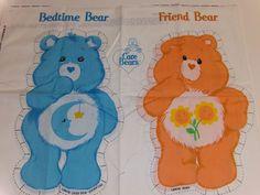 Springs Industries Inc Care Bears Fabric Panel Bedtime Bear And Friend Bear #SpringsIndustries