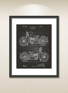Harley Davidson 1925 Patent Art Illustration  Drawing  by TawerArt