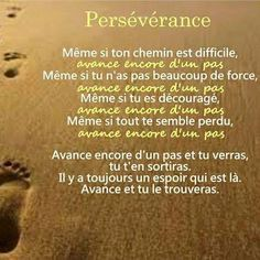 Persévérance ----> ☀️ Positive Life, Positive Attitude, Positive Quotes, Best Quotes, Love Quotes, Inspirational Quotes, French Proverbs, Good Quotes For Instagram, Image Citation