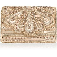 Accessorize Molly Scalloped Clutch Bag ($39) ❤ liked on Polyvore featuring bags, handbags, clutches, vintage style purses, beige handbags, beaded clutches, sequin handbags and chain handbags