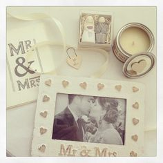 Beautiful wedding giftset Included a gorgeous wooden keepsake photoframe - mr mrs time to drink champagne and dance on the table candle little wooden