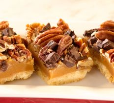 Desserts - Gooey Turtle Bars  Try this for the caramel part of the recipe