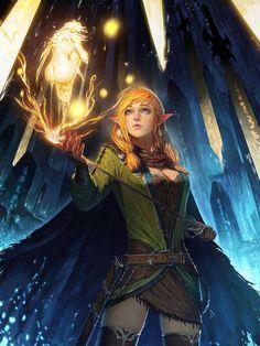 Magic Swordwoman by fangogogo on deviantART