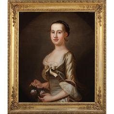 American School Portrait of a Woman, 18th Century Sold $11,000.