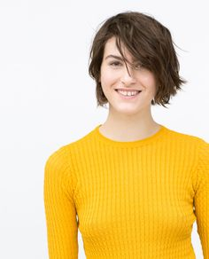 ZARA - WOMAN - SHORT CABLE KNIT SWEATER