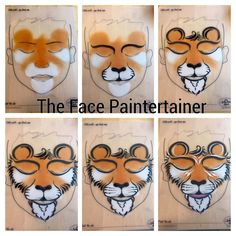 When you think about face painting designs, you probably think about simple kids face painting designs. Many people do not realize that face painting designs go Face Painting For Boys, Face Painting Tips, Face Painting Tutorials, Face Painting Designs, Paint Designs, Body Painting, Animal Face Paintings, Animal Faces, Lion Face Paint Easy