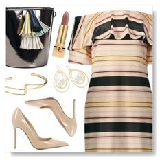 """""""Off shoulder Dress"""" by simona-altobelli ❤ liked on Polyvore featuring Gianvito Rossi, Ippolita and Yves Saint Laurent"""