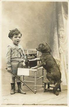 Vintage Pet Pictures | Vintage Children child baby pet religion Xmas postcards Victorian ...