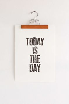 Word Bird Today Is The Day Art Print - Urban Outfitters