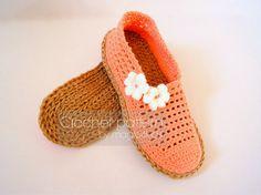 Crochet slippers patternsizes 22-26 cm / 8 5/8 10 by magic4kids