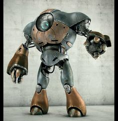 VictorHD sculpted and rendered a great robot, inspired by Thiago Almeida