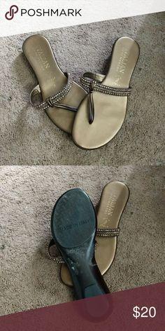 Gold Italian shoe maker sandals Italian shoe maker gold sandals size 7 Shoes Sandals