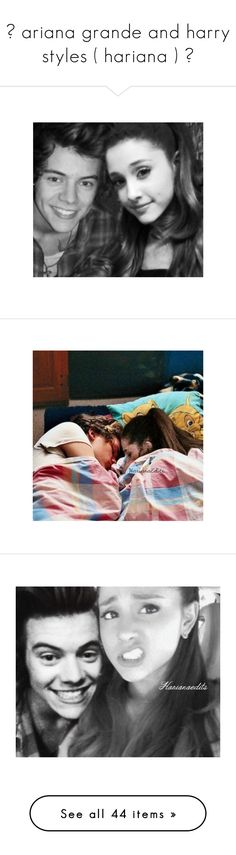 """""""✧ ariana grande and harry styles ( hariana ) ✧"""" by photogrxph ❤ liked on Polyvore featuring ariana, ariana grande, manips, vintage home accessories, vintage home decor, harry, ariana manips, one direction, hariana and harry styles"""