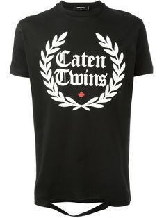 Dsquared2 Caten Twins cut-out detail T-shirt