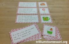Holiday Riddles / Oral Language Question Game (from Trillium Montessori)