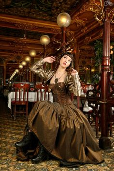 . Steampunk Pirate, Steampunk Dress, Victorian Steampunk, Steampunk Costume, Steampunk Clothing, Steampunk Fashion, Victorian Fashion, Steampunk Outfits, Steampunk Necklace