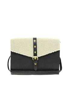 ASOS Shearling Flap Cross-body Bag
