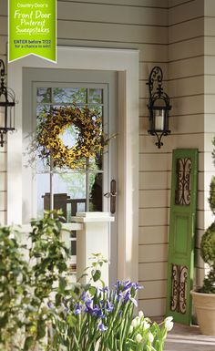 A one-stop shop for farmhouse decorators! You'll love Country Door's rustic décor, furniture, quilts and more.and a Decorate Now, Pay Later credit plan! Front Door Decor, Front Doors, Front Porch, Flower Cart, Summer Porch, Porch Decorating, The Fresh, Cottage Style, Garden Inspiration