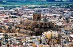Tilt-shift Cathedral, Granada, Spain
