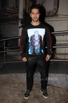Varun Dhawan at #Dilwale's screening. #Bollywood #Fashion #Style #Handsome