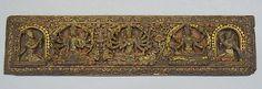 Pair of Buddhist Manuscript Covers. Nepal (Kathmandu Valley), 16th–17th century. Polychrome and gold on wood, cm. 10.8 x 42.9. New York, The Metropolitan Museum.