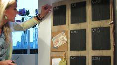 Praxis DIY | Maak een eigen weekplanner met een robuust en modern uiterlijk. Wij maken er een met een paar planken steigerhout en schoolbordverf.