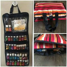 The Fold-Up Family Organizer can hold all of your essential oils, and you can see the labels for easy access!!