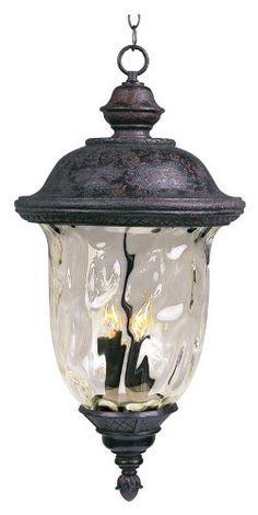 Outdoor Décor-Maxim Lighting 3428WGOB Three Light Water Glass Hanging Lantern Oriental Bronze ** Visit the image link more details.