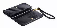 Lady Hand Strap Synthetic Mobile Phone Leather Case Card Wallet Pouch Bags For BlackBerry KEYone Mercury,ZTE Blade V8 Mini