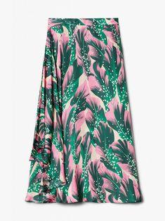 RODEBJER - Cati Seaflower Skirt in Forest Green