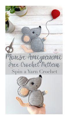 Kawaii Crochet, Crochet Mouse, Crochet Gifts, Cute Crochet, Simple Crochet, Crochet Patterns Amigurumi, Crochet Dolls, Crochet Yarn, Crochet Stitch