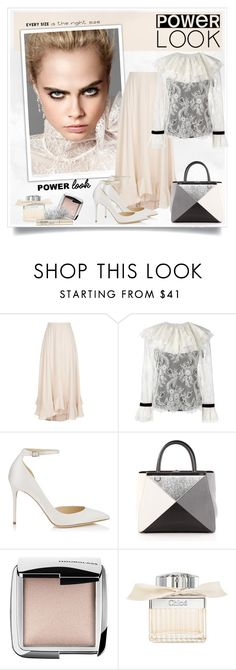 """Power Look"" by sneky ❤ liked on Polyvore featuring By Terry, Chloé, Philosophy di Lorenzo Serafini, Jimmy Choo, Fendi, Hourglass Cosmetics, Smith & Cult and powerlook"