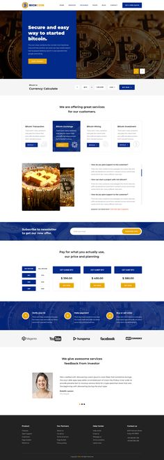RICHCOIN PSD Template #bitcoin #investment #market • Download ➝ https://themeforest.net/item/richcoin-psd-template/21239757?ref=pxcr