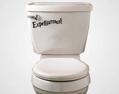 Expelliarmus Toilet Decal | Community Post: 19 Things You Need For Your Harry Potter-Themed Bathroom