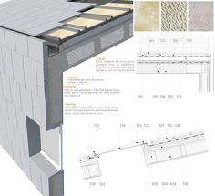 Pere Montllor> Vocational Music Conservatory in Cuenca Roof Architecture, Architecture Drawings, Architecture Details, Roof Design, House Design, Modern Barn House, Contemporary Barn, Contemporary Architecture, Fibreglass Roof