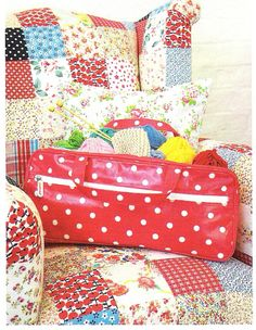 Love.This.Chair  cardinalacre:    ritacor:  i love cath kidson - diary of a quilter  Love the patchwork chair.
