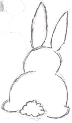 Bunny Outline Drawing drawing Pinterest