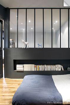 bonnesoeurs decoration espace nuit 03 chambre verriere vitres d atelier niche maconne